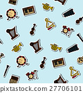 Colored musical instruments pattern 27706101