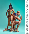 The man, woman in the images of Egyptian Pharaoh 27706185