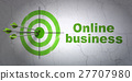 Finance concept: target and Online Business on 27707980