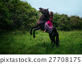 Beautiful woman on a horse 27708175