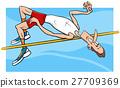 high jump sportsman cartoon 27709369