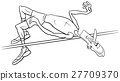 high jump sportsman coloring page 27709370