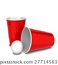 cup plastic red 27714563