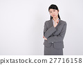 businesswoman, think, contemplation 27716158