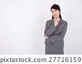 businesswoman, think, contemplation 27716159
