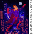 illustration of a superman 27716463