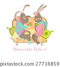 Cute bunnies in love 27716859