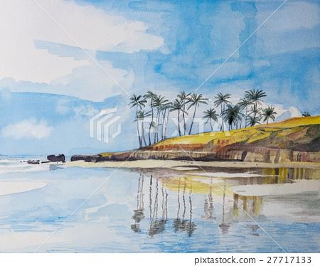 브라질 해안 수채화 27717133