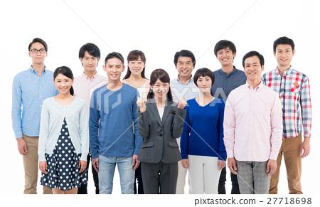 비즈니스 우먼과 사람들 27718698