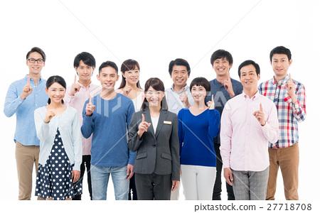 비즈니스 우먼과 사람들 27718708