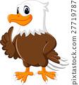 illustration of cute eagle cartoon 27719787