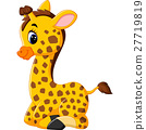 illustration of cute giraffe cartoon 27719819