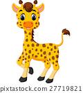 illustration of cute giraffe cartoon 27719821
