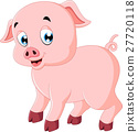 Cute pig cartoon 27720118