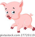 Cute pig cartoon 27720119