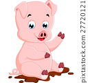 Cute pig cartoon 27720121