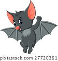 Bat cartoon waving 27720391