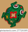 Chinese Five Poison toad-shaped pillow 27720395