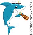 Cute shark holding binocular 27720841