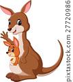 illustration of cute Kangaroo cartoon 27720986