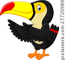 Cartoon happy bird toucan 27720989