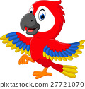 illustration of cute macaw cartoon 27721070