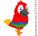 illustration of cute macaw cartoon 27721071