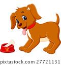 Cute dog cartoon 27721131