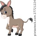 Cartoon happy donkey 27721224