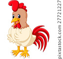Cartoon chicken rooster 27721227