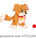 cute funny smiling dog 27721290