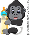 illustration of Funny gorilla cartoon 27721335