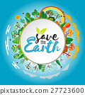 Save the Earth concept, Vector Illustration 27723600