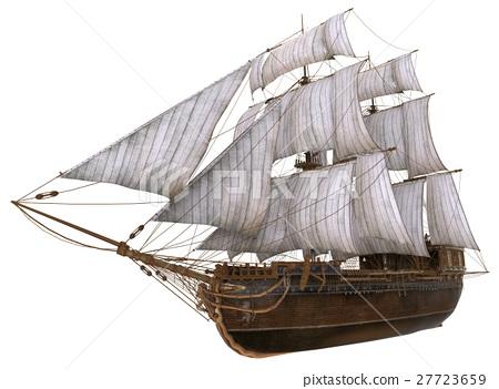 Sailboat 3D Illustration Isolated On White 27723659