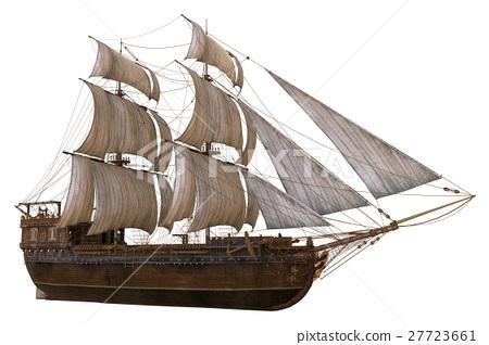 Sailboat 3D Illustration Isolated On White 27723661