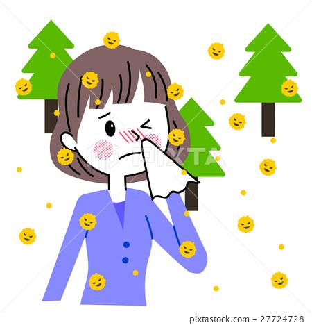 꽃가루 알레르기 여성 27724728