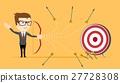 Businessman - loser shooting arrow . 27728308