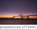 东京京门大桥 照亮 晚景 27728441