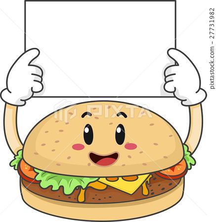 Mascot Burger Hold Board 27731982