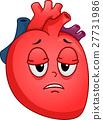 Sick Heart Mascot Fatigue 27731986