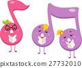musical, notes, mascot 27732010