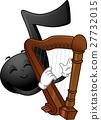 Music Note Mascot Harp 27732015