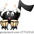 Music Note Mascot Timpani 27732016