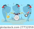 Mascot Whale Music Band 27732056