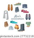 Man s Accessories Vector Concept in Flat Design 27732218