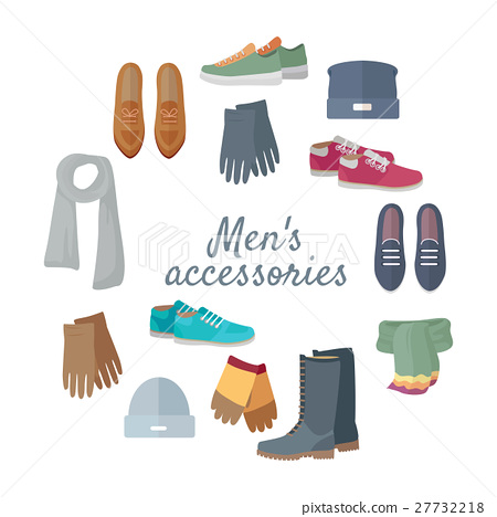Man s Accessories Vector Concept in Flat Design 27732218