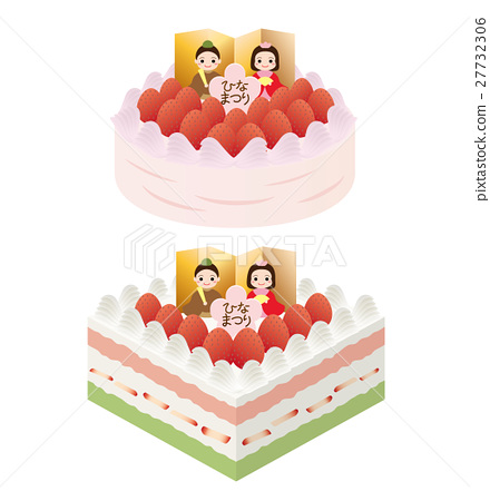 Two patterns of doll festival cake 27732306