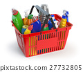 Detergent bottles and cleaning supplies 27732805