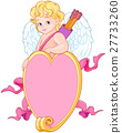 Cupid over a Heart Shape Sign 27733260