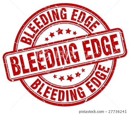 bleeding edge red grunge stamp 27736241